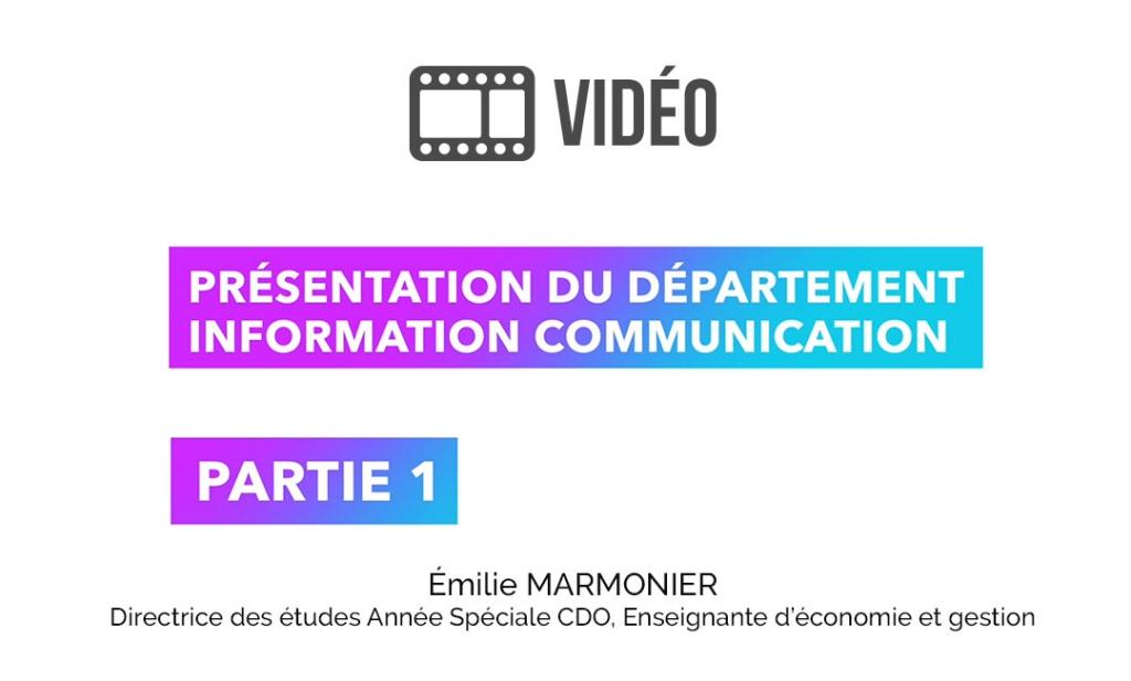 Vidéo de présentation de la formation information communication - Partie 1